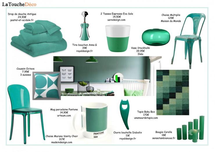 La couleur pantone de l 39 ann e 2013 aventure d co - Couleur vert emeraude ...
