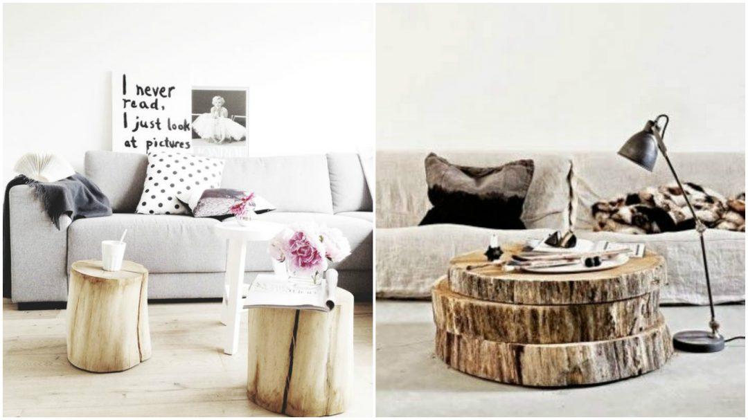 Le rondin de bois dans la d co aventure d co - Deco de table avec rondin de bois ...