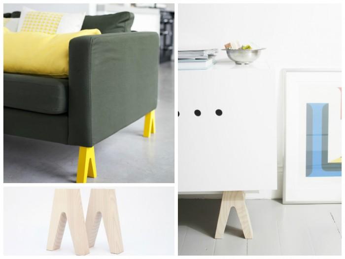 Prettypegs ou quand vos meubles prennent leurs pieds aventure d co - Pieds de meuble design ...