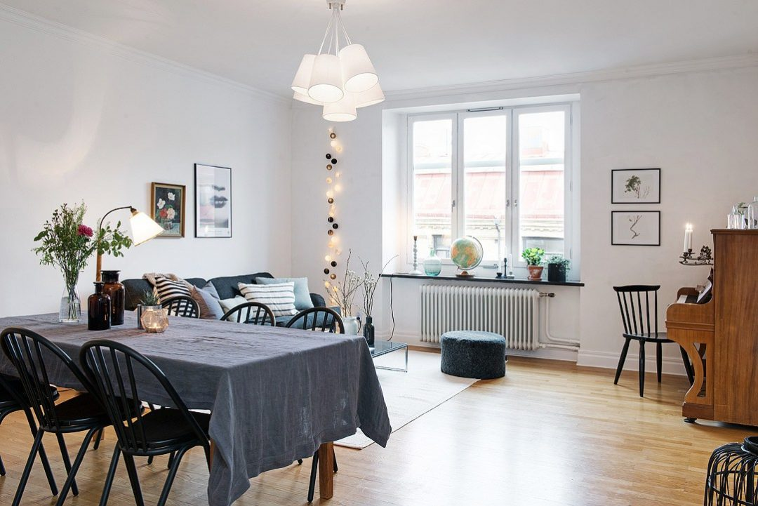 Un appartement lumineux et traversant aventure d co for Salle a manger scandinave