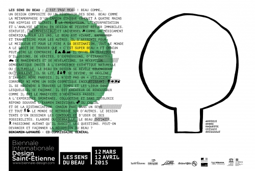 Biennale Internationale Design Saint-Etienne 2015