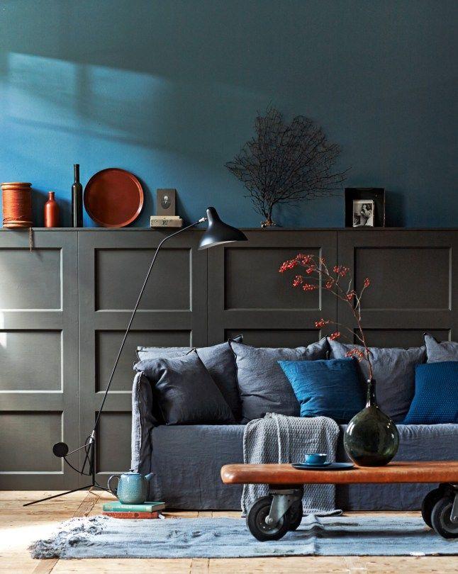 Inspiration pour la décoration bleu de votre séjour