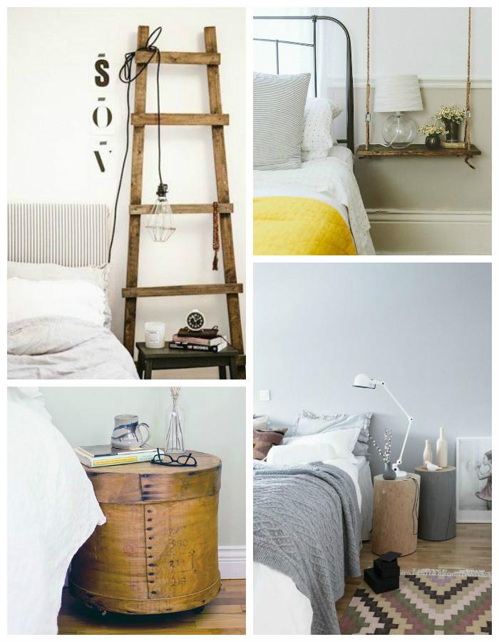 table de chevet recup. Black Bedroom Furniture Sets. Home Design Ideas