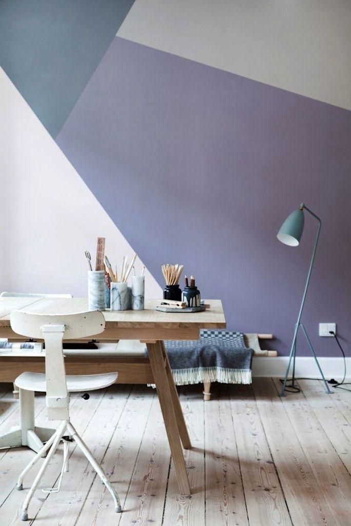 Murs géométriques de couleurs