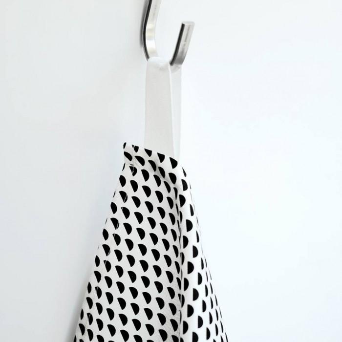 Torchons graphiques scandinave noir et blanc by Hejm