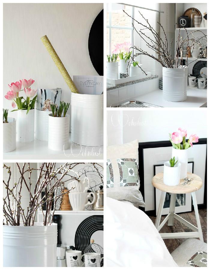 Vases deco - fleurs tables de chevet tabouret