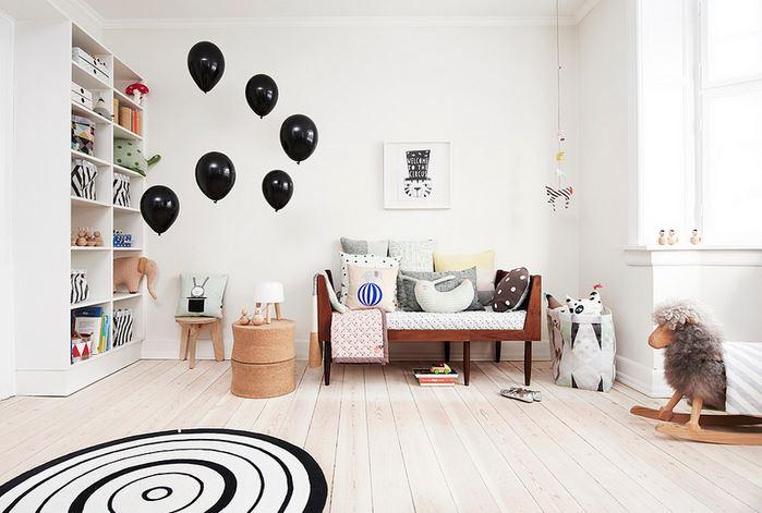 Chambre d'enfant scandinave avec oyoy marque danoise
