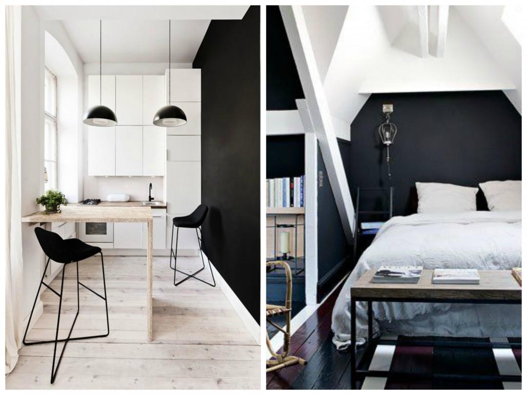 Un mur noir dans sa décoration by Aventure Déco