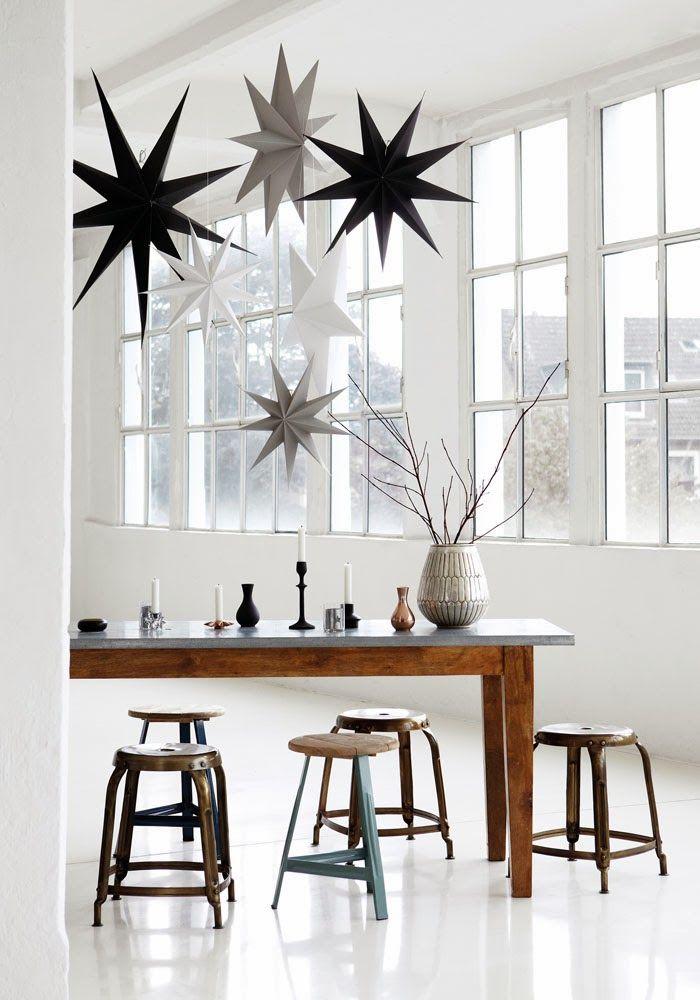 Noël scandinave : Etoiles origami et bougeoires aux rdv