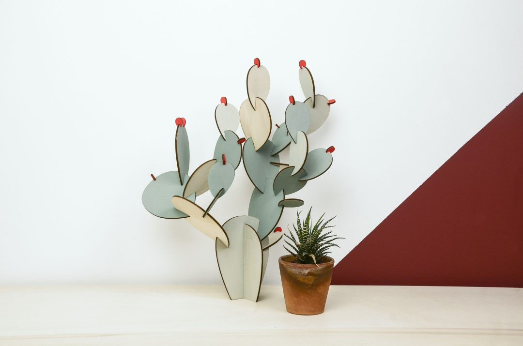 Le Wooden Cactus par Papier Tigre