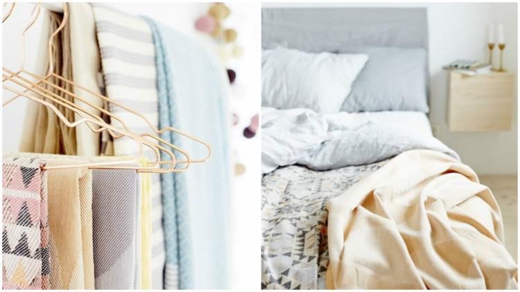 Textile : fouta, plaid, coussins...