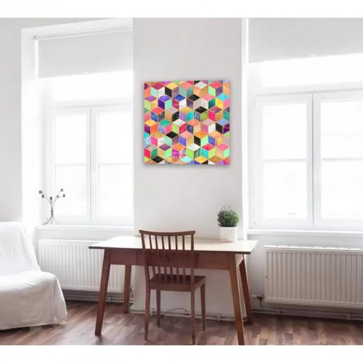 tableau-deco-colorful-cubes