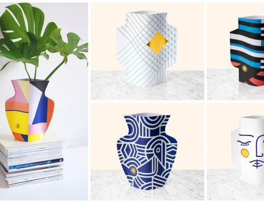 Le Paper Vase est une création du studio Octaevo, créateur de papeterie et accessoires avec une conception de la culture méditerranéenne et les valeurs du luxe contemporain.