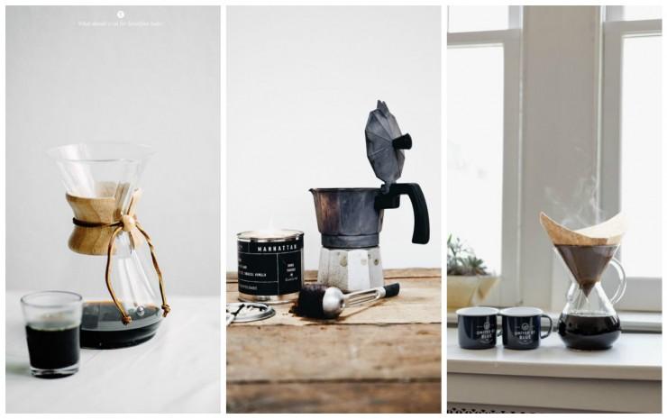 Machines à café Chemex et Moka