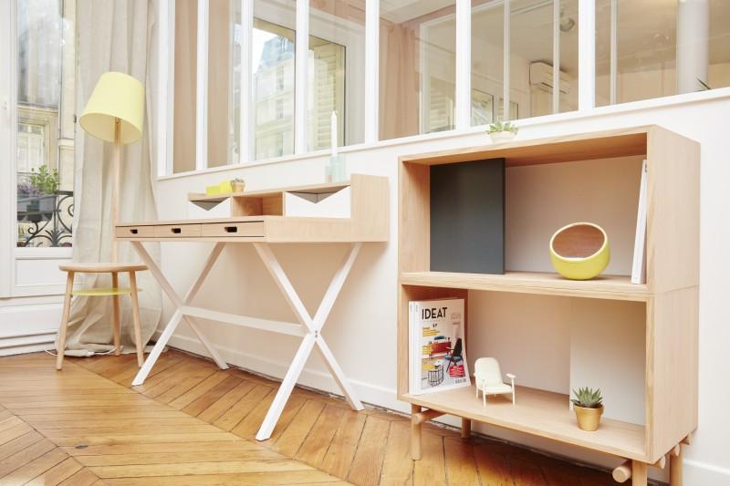 Espace bureau bois clair - Aventure Deco