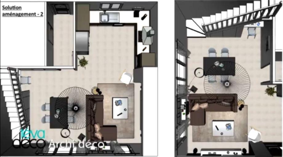 T va d co un duplex contemporain design aventure d co for Deco appartement duplex