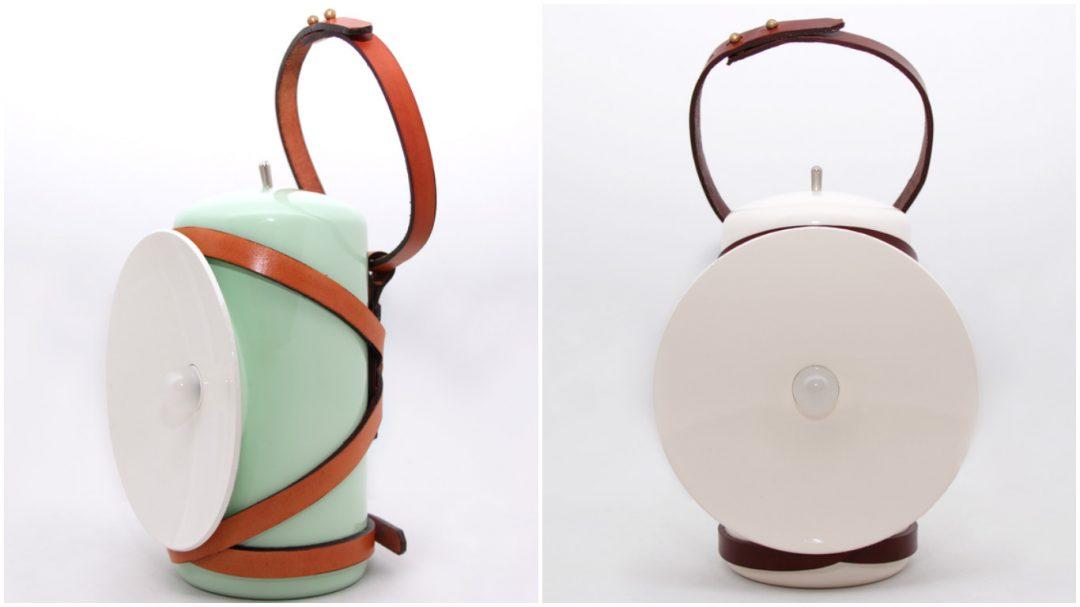 LENA est une petite lampe nomade sans fil, équipée d'une batterie rechargeable.