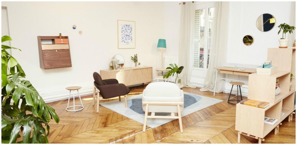 Cette jeune marque joue avec le bois naturel du design scandinave et une palette de couleur retro très tendance.