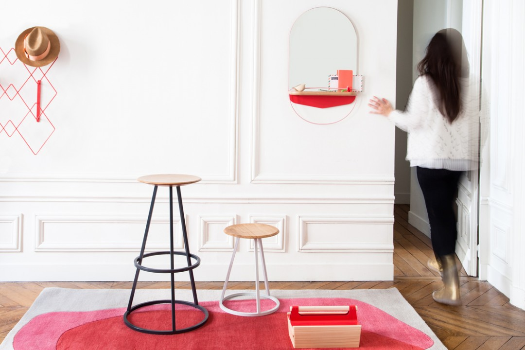 modeste-harto-design-vide-poche-tabouret-tapis-sorbet-scandinave