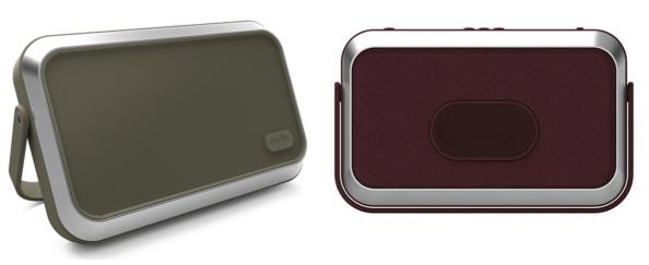enceinte bluetooth Emïly par Ora ïto Mobility kaki et bordeaux, sans fil et portable