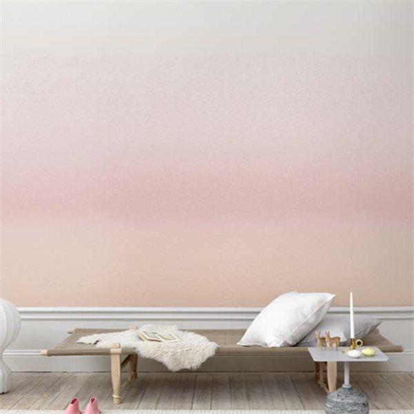 papier peint tie and dye rose grisé