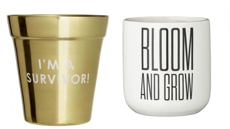 Pots de fleurs - H&M Home // Bloomingville