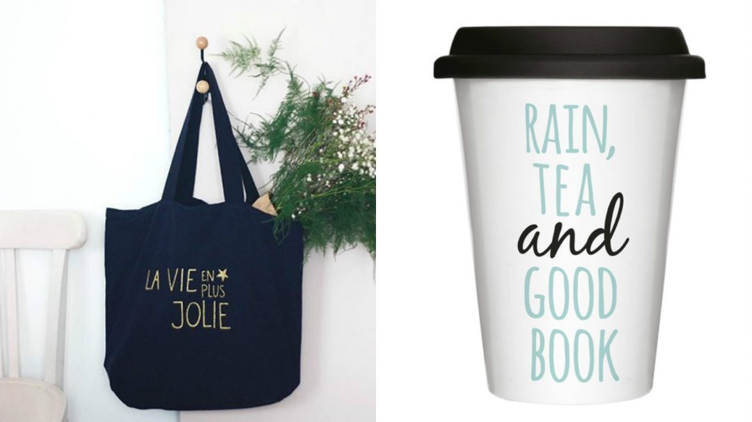 Sac La vie en plus joli - Happy Home // Tasse Take axay rain - Chic Place