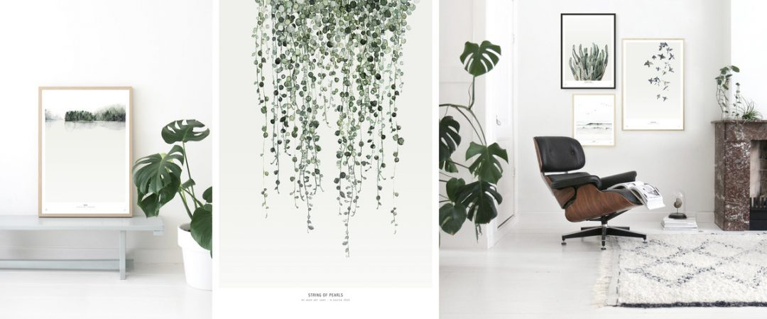 Agreable ... Affiche Vegetal Feuille Decoration Mural Aventuredeco ...