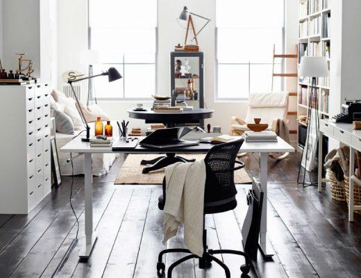 Un bureau dans le salon - Aventure Deco