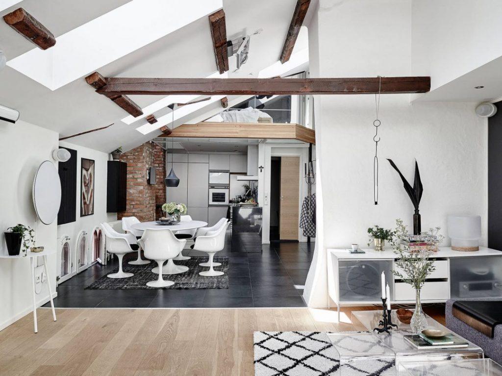 Duplex sous les toits aux allures scandinave