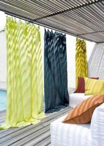 rideaux lin couleur