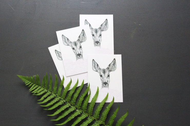 Carte postale Bibiche chez Esperluette - Aventure Déco