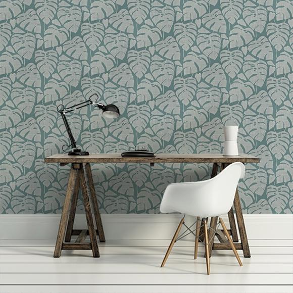 papier tropical dans un bureau en toute simplicité