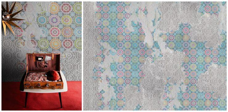 des papiers peints au look destroy aventure d co. Black Bedroom Furniture Sets. Home Design Ideas