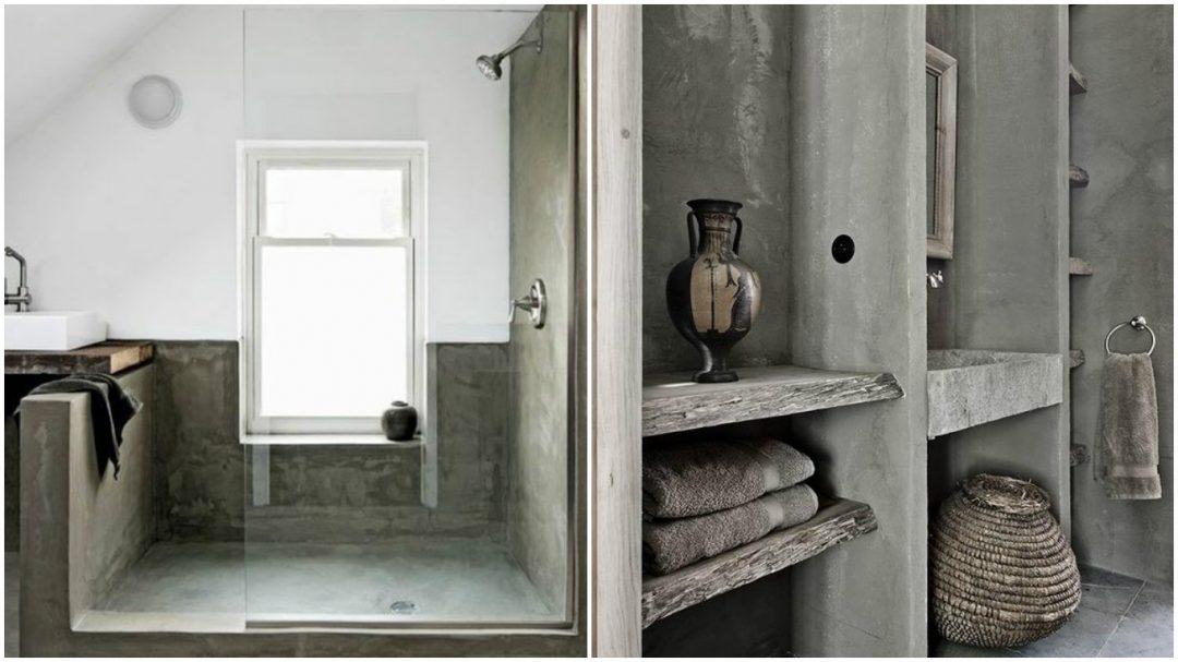 Du b ton dans la salle de bain aventure d co for Materiaux salle de bain