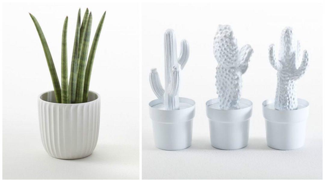 Vases origami et cactus en métal - Objets de décoration