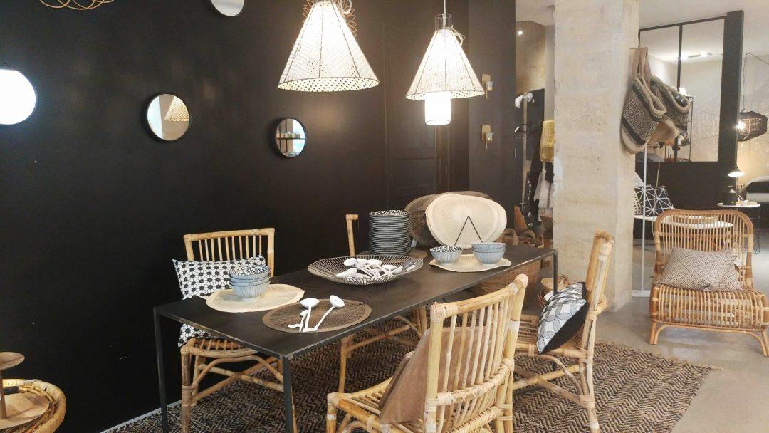 La maisons poétique concept store situé à bordeaux salle à manger style éthnique