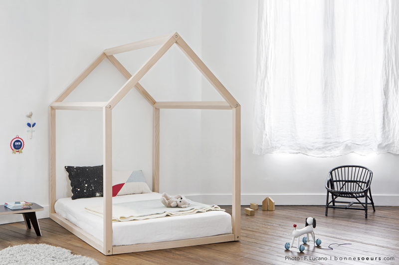 un lit cabane pour une chambre d 39 enfant aventure d co. Black Bedroom Furniture Sets. Home Design Ideas
