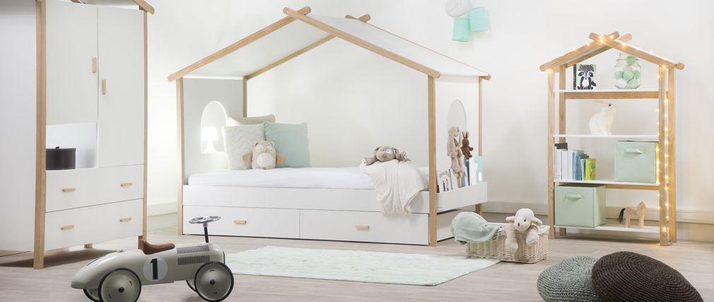 Un lit cabane pour une chambre d\'enfant • Aventure Déco