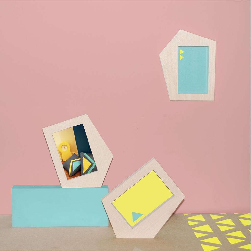 Cadres photos bois, couleur pastel by Les Estampillés