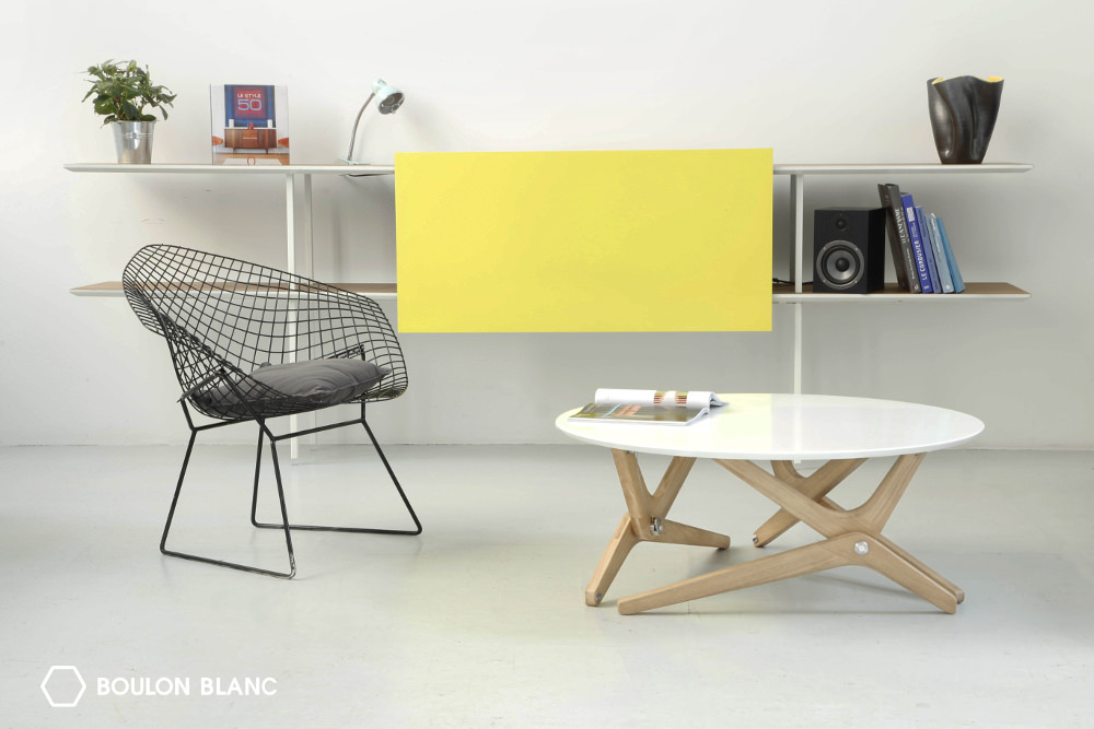 Boulon Blanc transforme votre interieur - Table basse transformable