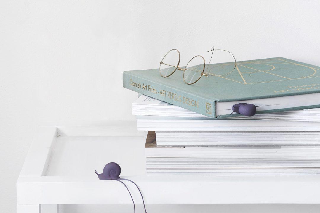 Marque Page escargot designé par Studio Macura