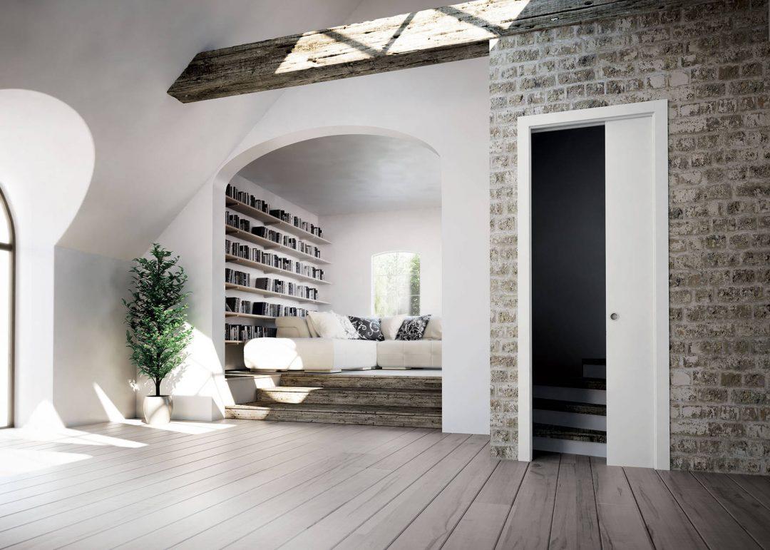 Gagnez de l 39 espace gr ce aux portes coulissantes - Porte coulissante en applique scrigno ...