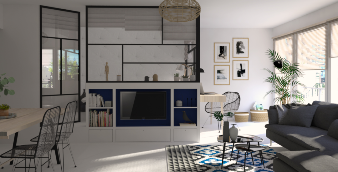 transformer un studio en un 2 pi ces fonctionnel. Black Bedroom Furniture Sets. Home Design Ideas