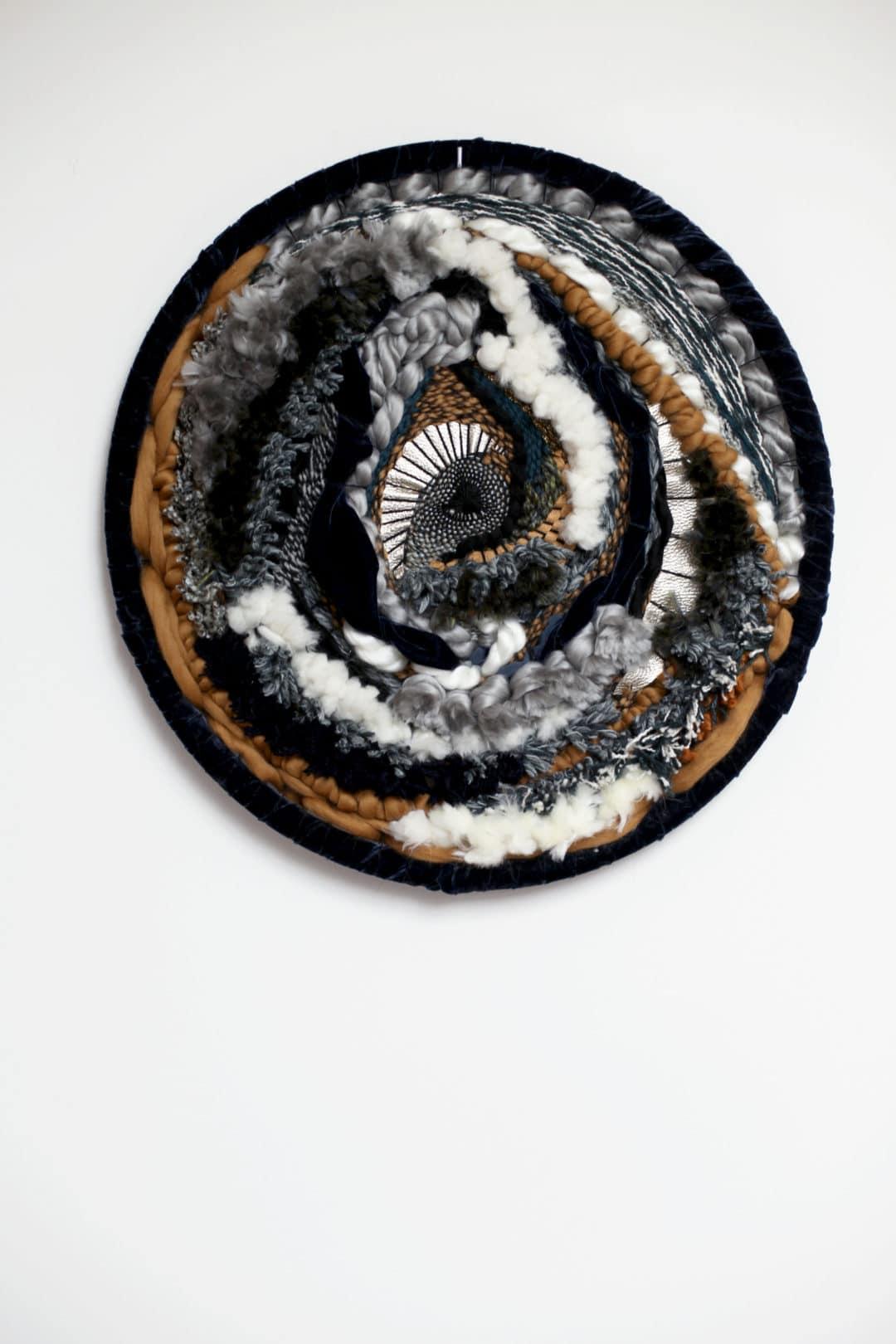 Mirzon tissage mural circulaire, esprit ethnique