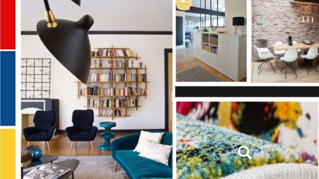 Un salon coloré, familial et fonctionnel