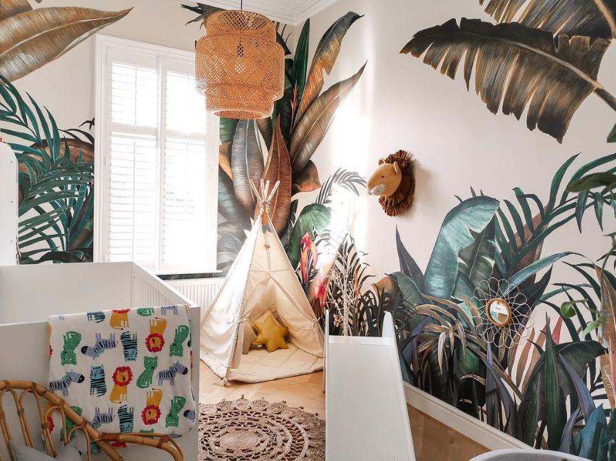 Du Papier Peint Tropical Pour Une Chambre D Enfant Jessica Venancio