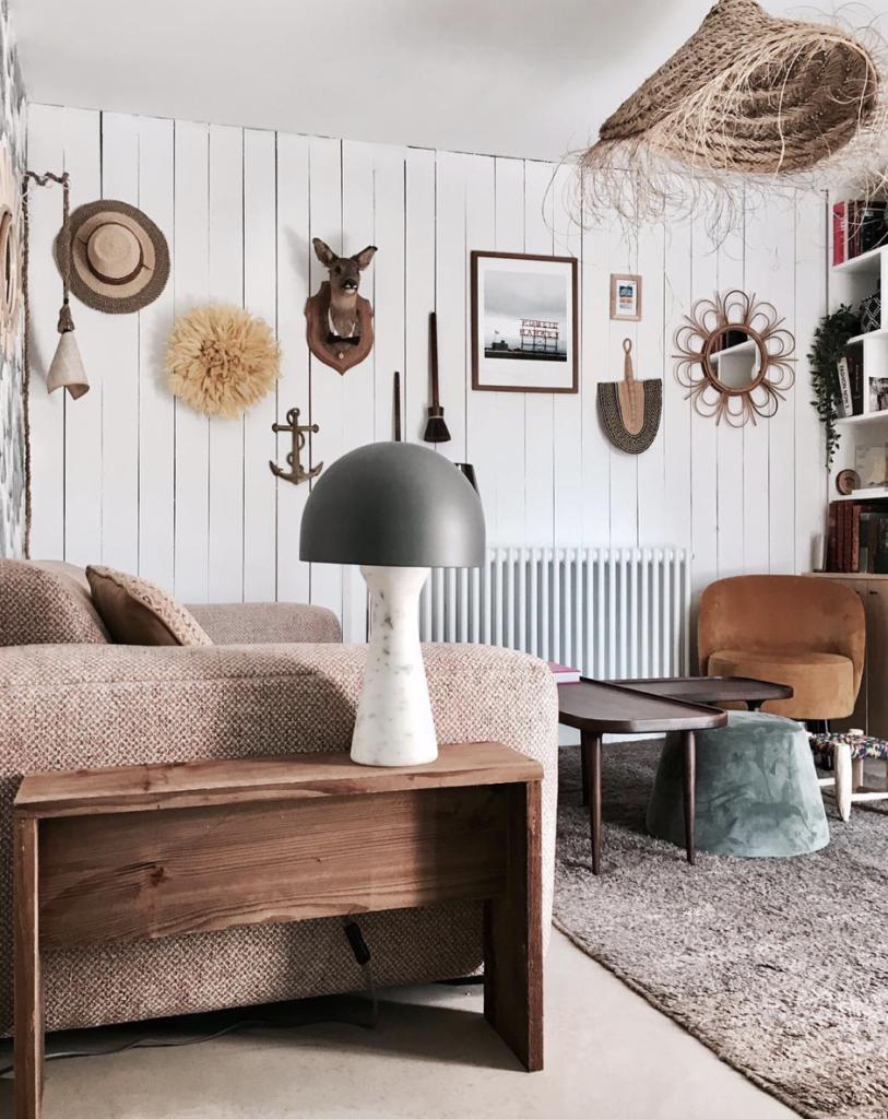 Family Room à la décoration chic et sauvage