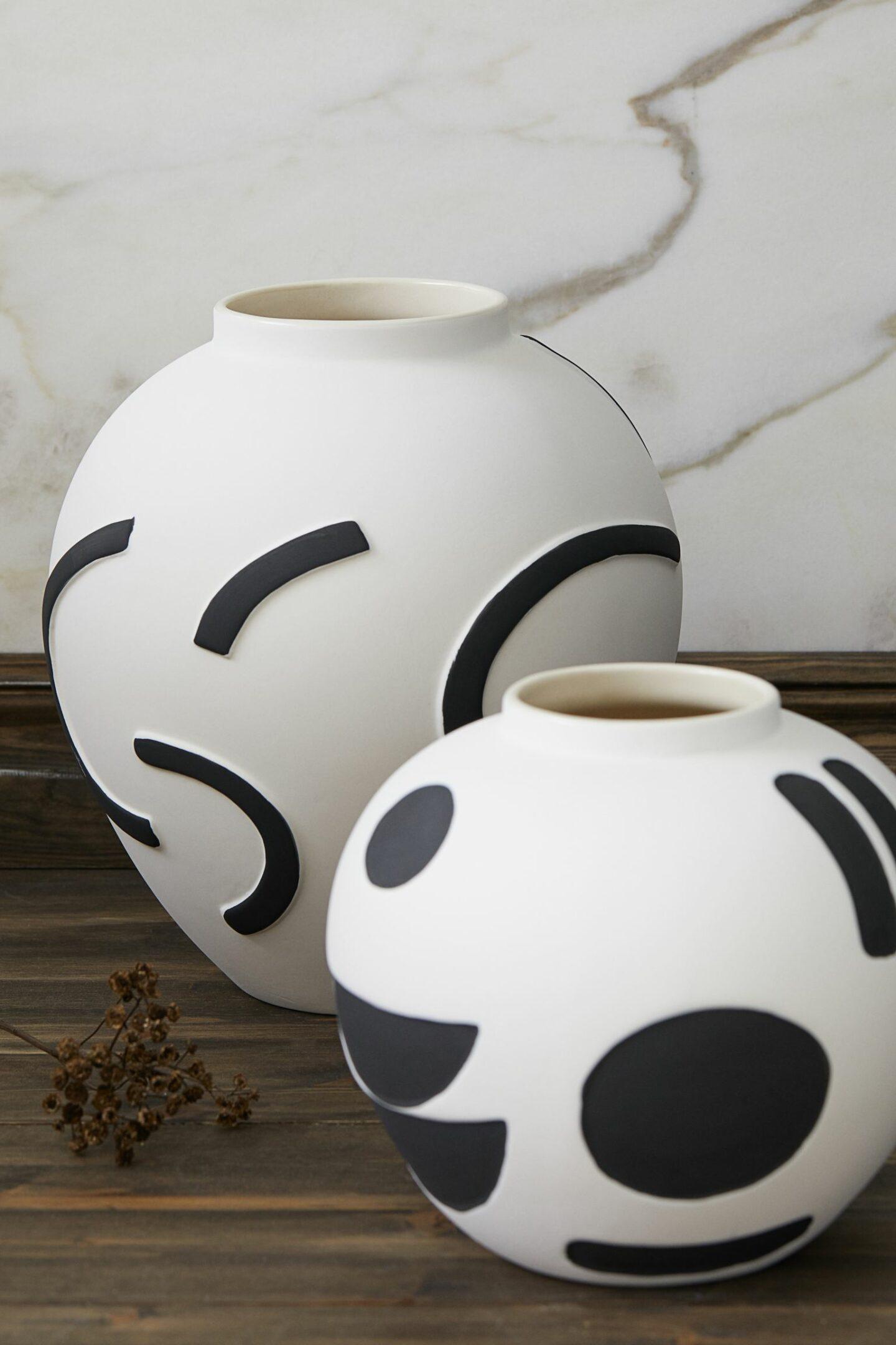 Vases en céramique pour décoration