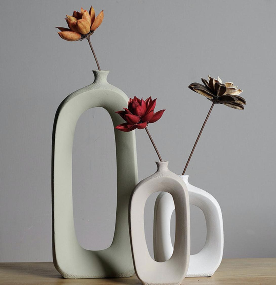 Vase en céramique, vase moderne, vase nordique